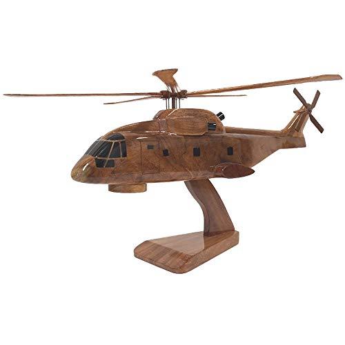 Merlin Marine Hubschrauber/AgustaWestland AW101–Military Aircraft–Executive Holz Desktop Modell (Mahagoni)