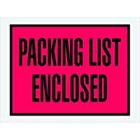 Ship Now Supply SNPL411 Packing List Enclosed Envelopes 4 1/2 x 6 width 4.5 Length Red (Pack of 1000) [並行輸入品]