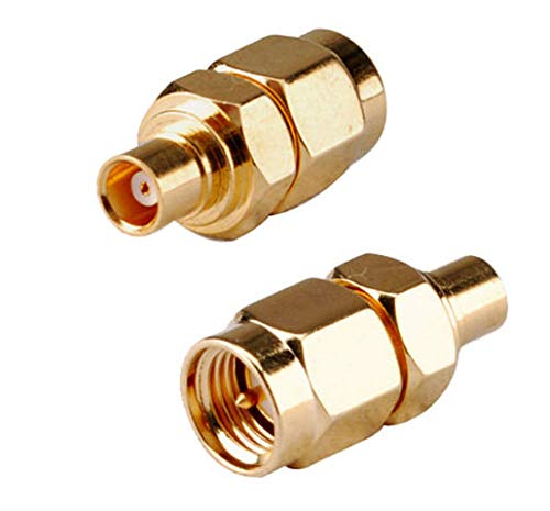 Price comparison product image DHT Electronics RF coaxial Coax adadpter SMA Male to MCX Female Pack of 2