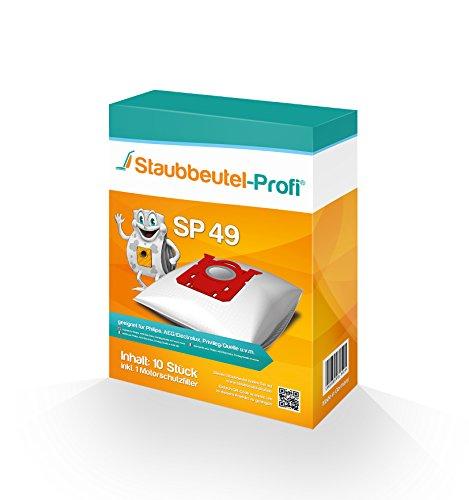 10 Staubsaugerbeutel SP49 von Staubbeutel-Profi® kompatibel zu Swirl PH86, Swirl PH96, Swirl E82, Swirl VO75