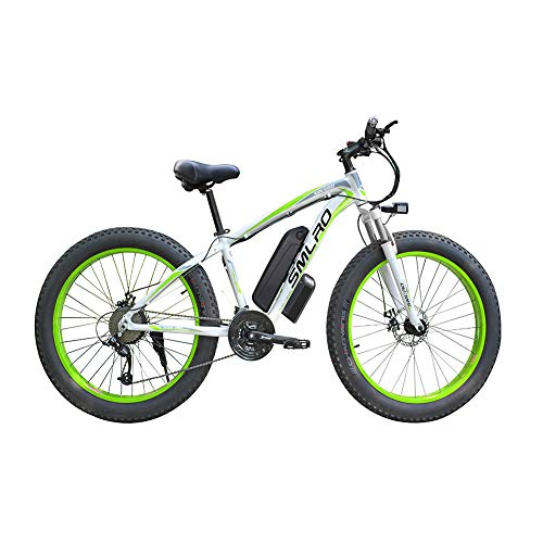 FZYE 26 inch Electric Bikes Electric Bikes, 48V/1000W Outdoor Cycling Travel Work Out Adult,Green
