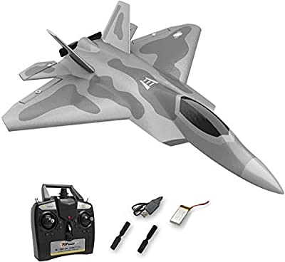 Top Race Rc Jet 4 channel remote control fighter planes for adults, high speed airplane, for advanced flyers only TR-F22B