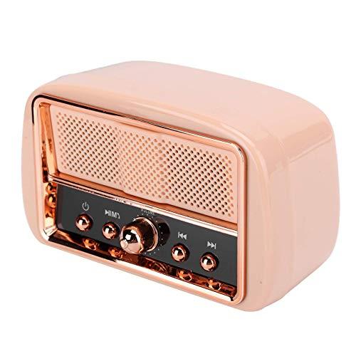 Altoparlante Bluetooth, Vintage Mini Speaker Wireless BuiltIn Mic Chiamate Altoparlante Subwoofer per Doccia, Festa, BBQ, Casa, Viaggi (Rosa) jianyou (Colore: Rosa)