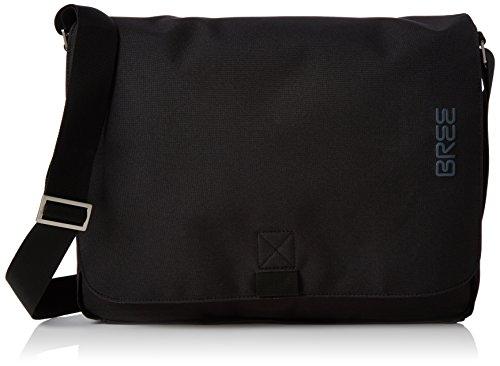 BREE Unisex-Erwachsene PNCH Style 49 Messenger Bag Schultertasche, Schwarz (Black), 8x28x38 cm