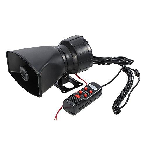 KKmoon 12V 60W Bocina 5 Sonido Alarma de Coche 300dB Sirena de...
