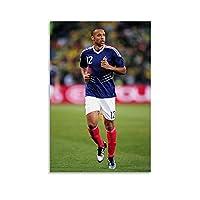 サッカー選手Thierry Henryのポスター キャンバスポスター寝室の装飾スポーツ風景オフィスルームの装飾ギフト,キャンバスポスター壁アートの装飾リビングルームの寝室の装飾のための絵画の印刷 12x18inch(30x45cm)