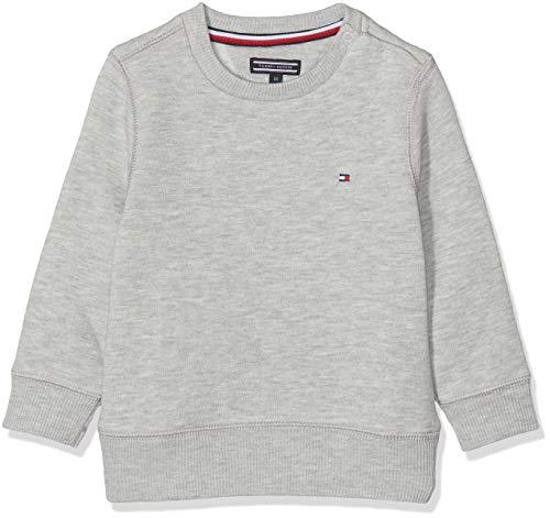Tommy Hilfiger Jungen Boys Basic Sweatshirt, Grau (Grey Heather 004), (Herstellergröße: 92)