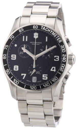 Victorinox Swiss Army - Reloj analógico de Cuarzo para Hombre con Correa de Acero Inoxidable, Color Plateado