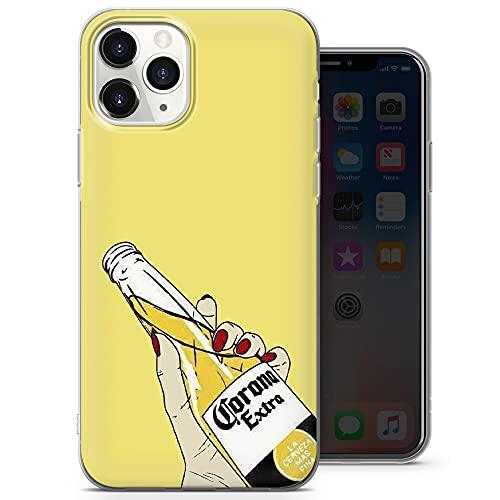 Cover per telefono con corona extra birra, motivo pastello, compatibile con iPhone 11 Pro Max, sottile sottile e morbido silicone TPU, design 1 - A69