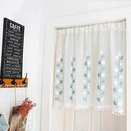 Cafe Curtains Tende a Vela e da bistrot Tende Trasparenti per Salotto Tenda Corta Bianca Mezza Tenda Cucina Piccola Tenda