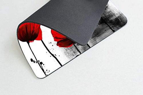 Smooffly Beautiful Vintage Poppy Flower Ink Painting Art Design Mouse Pad 9.5X7.9 inches Photo #3