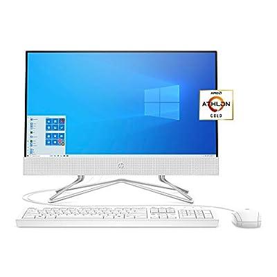 HP 22 All-in-One PC, AMD Athlon Gold 3150U Processor, 4 GB RAM, 256 GB SSD, Full HD IPS 21.5-inch Anti-Glare Display, Windows 10 Home, USB Mouse and Keyboard (22-df0022, 2020)