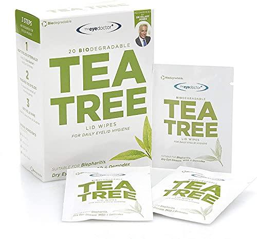 The Eye Doctor Tea Tree oogliddoekjes – 200 x eenmalig gebruik Tea Tree Eye doekjes – geschikt voor gevoelige ogen…