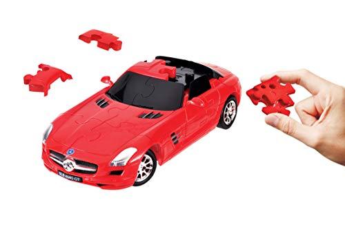 Puzzle Fun 3D 80657110 Mercedes-Benz SLS AMG zum Basteln Puzzeln und Spielen auch als Geschenk, rot