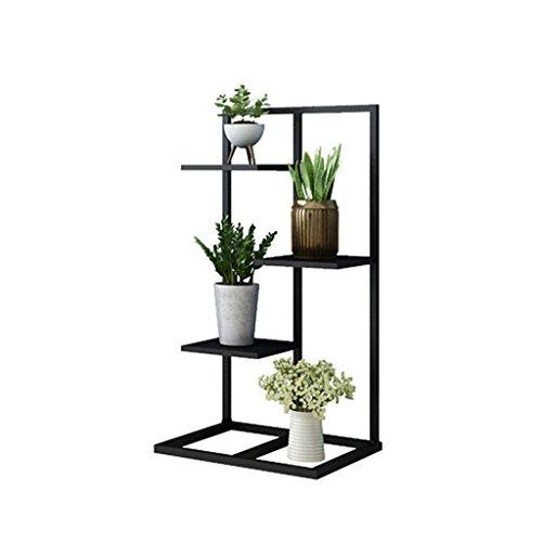 Kang-JZ Soporte de flores de hierro forjado negro, Soporte de planta de varias capas Soporte de planta Dormitorio de esquina Sala de estar Oficina Lugar de negocios Impermeable a prueba de agua Estant