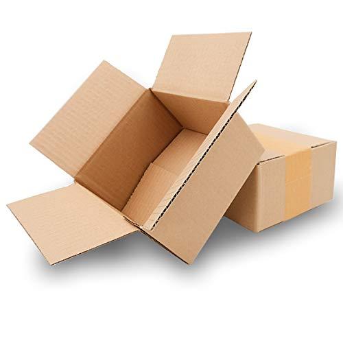 25 Faltkartons 150x150x80mm braun KK 05 1 wellig quadratische Versandkartons für kleine Waren | DHL Päckchen S | DPD XS | H Päckchen | GLS XS | kleine Kartons | kleine päckchen | Mailbox S