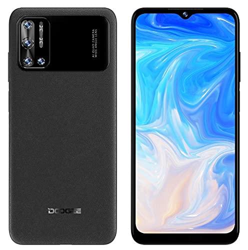 DOOGEE N40 Pro Android 11 Móvil Libres 4G, Helio P60 Octa-Core 6GB+128GB, 6.52'' HD+ Teléfono, Batería 6380mAh, Cámara Trasera Cuatro 20MP, Cámara Frontal 16MP, Huella Digital Dual SIM GPS Negro