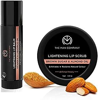 The Man Company Lip Care Combo Lip Scrub & Lip Balm for Dry / Chapped Lips | Lightening & Brightening Dark Lips | Damaged ...