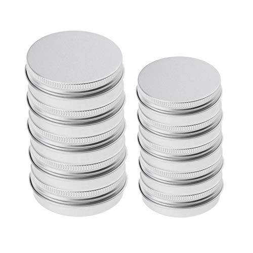 T TOOYFUL 0pcs 25 / 150ml Pots Vide en Aluminium Perle de Stockage Conteneur Nail Art, Paillette, Maquillage