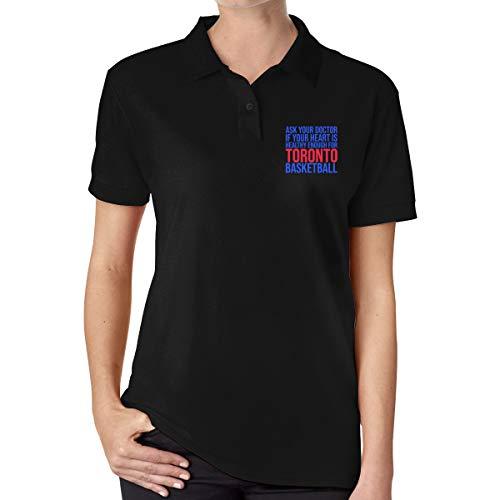 Ladies Fashion Print Ask Your Doctor.Toronto Basketball Cotton Polo Shirt
