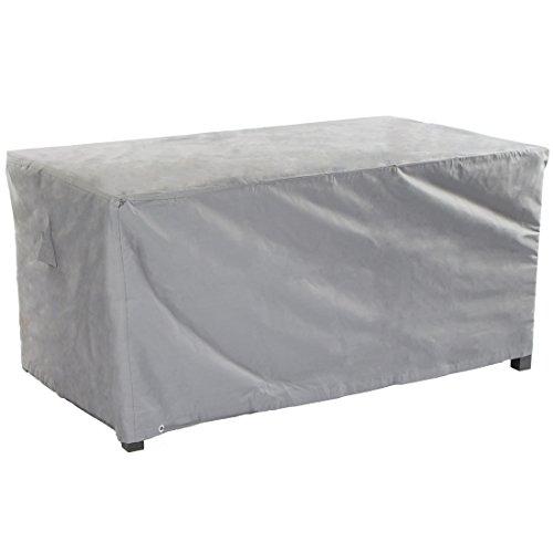 Ultranatura Gewebe-Schutzhülle Sylt für rechteckigen Gartentisch, Wetterschutzhülle für eckige Tische, 125 x 70 x 94 cm