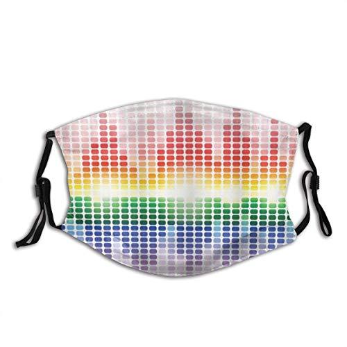 Olive Croft Gesichtsschutz Mund Scraf Musik Rainbow Equalizer Verstärker Aufnahmegeräte Night Club Disco mit Filter