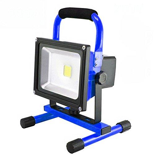 MCTECH® 20W Warmweiß Blau Tragbare Wiederaufladbare Handlampe LED AKKU Flutlicht-Lampe Camping Lampe Arbeitsscheinwerfer Angeln Beleuchtung Outdoor Laterne Campinglaterne Werkstatt-Flutlicht IP65 (20W Warmweiß)
