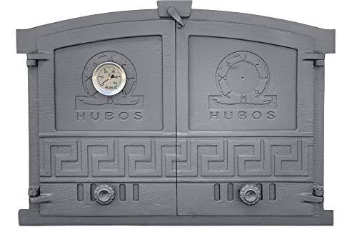 Puerta de horno de hierro fundido 600 x 430, puerta de horno de piedra 720027