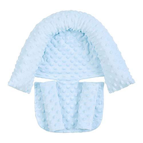 SVHK Cojín de cabeza y cuello del bebé, reposacabezas, soporte de cabeza de asiento de automóvil, almohada de soporte suave de cabeza y cuello y cubierta de cinturón de seguridad para almohadas de asi