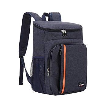 Hievomi Sac à Dos Isotherme à Glacière 18L, Sac Isotherme Repas, Cooler Backpack Bag Pour Pique-Nique Camping BBQ