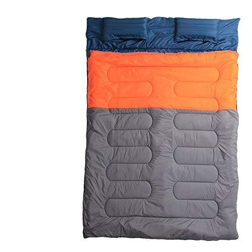 HXiaDyG Camping slaapzak camping dubbele slaapzak omgezet, 2 single large geschikt voor camping trip outdoor-liefhebbers kiezen 4 seizoenen mama slaapzakken