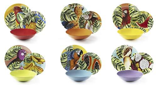 Excelsa Havana Vajilla de 18 piezas, porcelana y cerámica