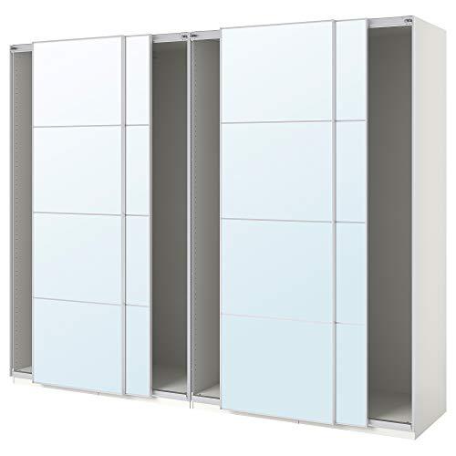 PAX armadio con ante scorrevoli 300x66x234 cm bianco/Auli specchio vetro