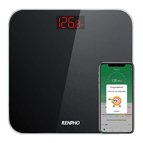 RENPHO Bluetooth Bathroom Scale Digital Weight with...