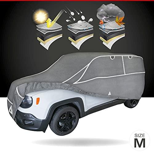Walser Auto Hagelschutzplane Hybrid UV Protect SUV, wasserdichte atmungsaktive UV-beständige Hagelschutzgarage inkl. Spanngurtset, Größe: M 30960