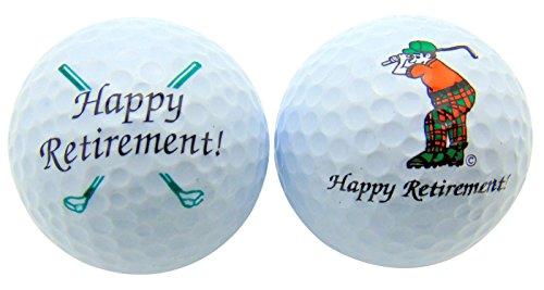 sports fan golf gift sets Westmon Works Happy Retirement Set of 2 Golf Ball Golfer Gift Pack