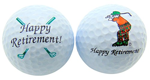 Westmon Works Happy Retirement Set of 2 Golf Ball Golfer Gift Pack