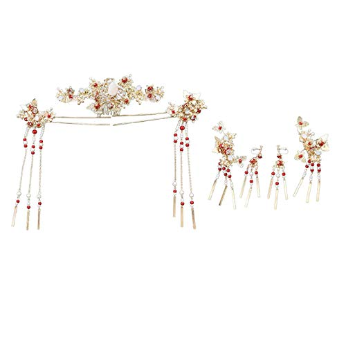 Hellery Chino de oro horquilla de la boda joyería nupcial Corolla tocado Accesorios