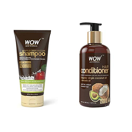 Wow Apple Cider Vinegar Hair Shampoo and Hair Conditioner Combo