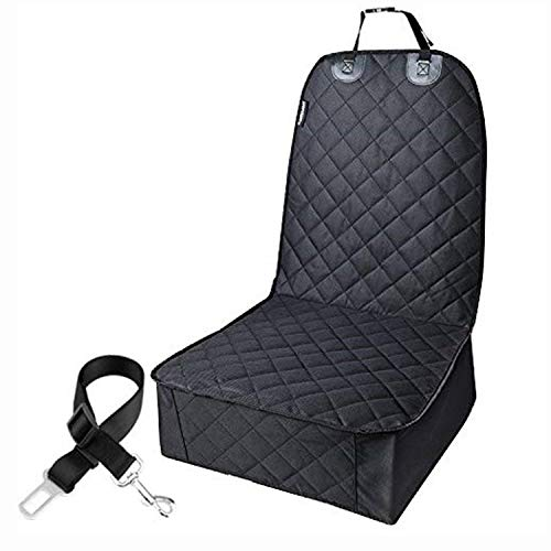 ZALA Dog Car Seat Cover for Front Seats Waterproof Scratch Proof Car Seat Protector for Dogs. Fits Most Trucks, Vans, and SUVs