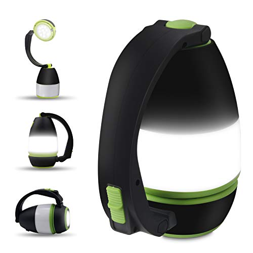 Bawoo LED Campinglampe Camping Laterne, IPX4 wasserdicht USB Wiederaufladbar Taschenlamp Notfallleuchte tragbar Zeltlampe für Stromausfällen, Wandern, Camping, Notfall usw.