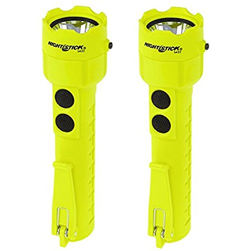 (2 Pack) Bayco Nightstick XPP-5422G Intrinsically Safe Permissible Dual-Light Flashlight, Green (3 AA Batteries Not Included)