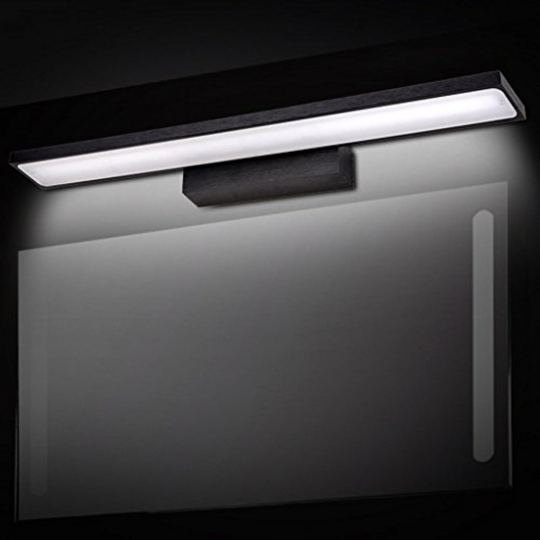 Home Aluminium LED Badezimmer Spiegel vorne Licht Badezimmer Wand lampe wasserdicht Nebel schwarzes Erscheinungsbild moderner, minimalistischer TriFarbe Dimmen (Gre  40 cm, 8 W)