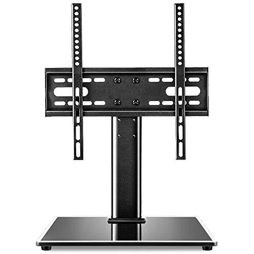 RFIVER Soporte Pie TV Universal de Mesa Peanas para Television de 27 a 55 Pulgadas con Altura Ajustable UT4001