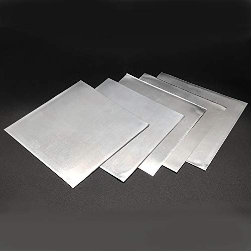 Without brand SSB-JIAODAI, 5pcs High Purity bläulich-weiße Zink-Platte 99,9% reines Zink-Blatt-Platte for Science Lab 140x140x0.2mm