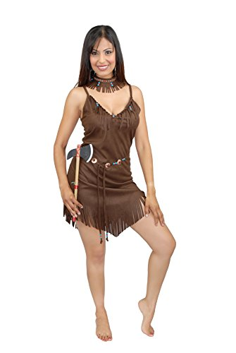 Charades Damen Pocahontas Kostüme für Erwachsene, braun, X-Small