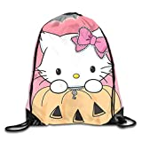shenguang Unisex Charmmy Kitty Halloween Deportes Mochila con cordón Bolsa de Gimnasio