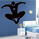 BJWQTY Amovible PVC Spider Man Wall Sticker pour Chambre d'enfants Étanche Enfants Stickers Muraux Wall Art Decal