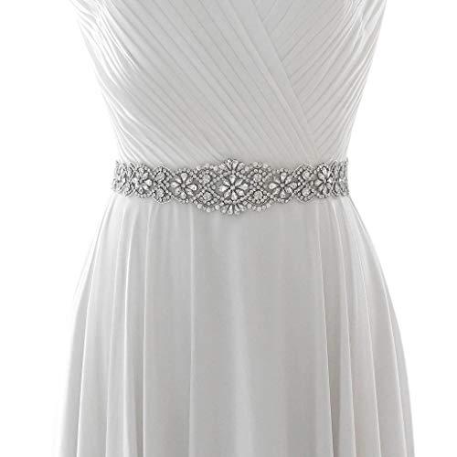 Azaleas Women's Crystal Wedding Belt Sashes Bridal Sash Belt for Wedding (Lavender)