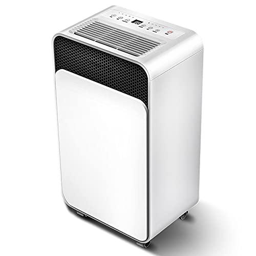 HXBH Deshumidificador grande Deshumidificador silencioso 2L Deshumidificador de aire eléctrico Tiempo de 24 horas para que toda la casa deshumidifique y evite la humedad/Blanco